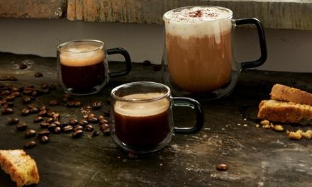 Two or Four Ravenhead Double Wall Espresso Mugs, Mugs, and Latte Glasses