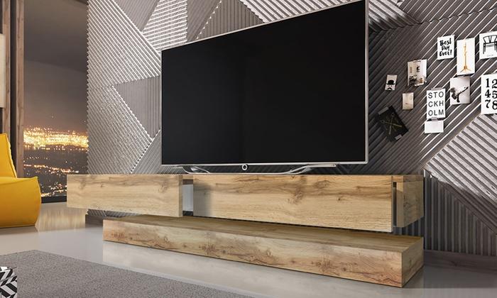 Zwevende Tv Kast Met Led Licht Groupon Goods