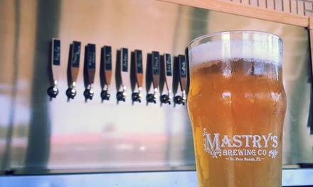 Two Flights and a Souvenir Pint Glass for Two at Mastrys Brewing Company (Up to 38% Off)