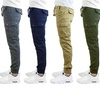 Galaxy by Harvic Men's Slim Fit Stretch Cotton Cargo Jogger Pants