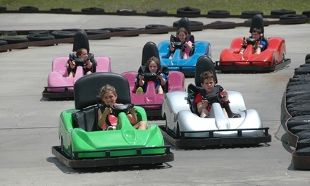 $29 for a Family-Fun Package with Pizza, Fountain Drinks, and Activity Tickets at Kart Ranch ($50 Value)