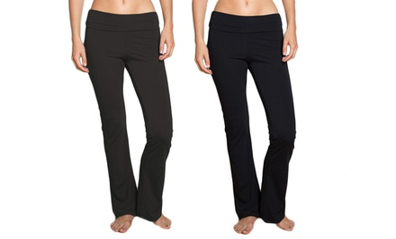 Women's Foldover Waist Yoga Pants