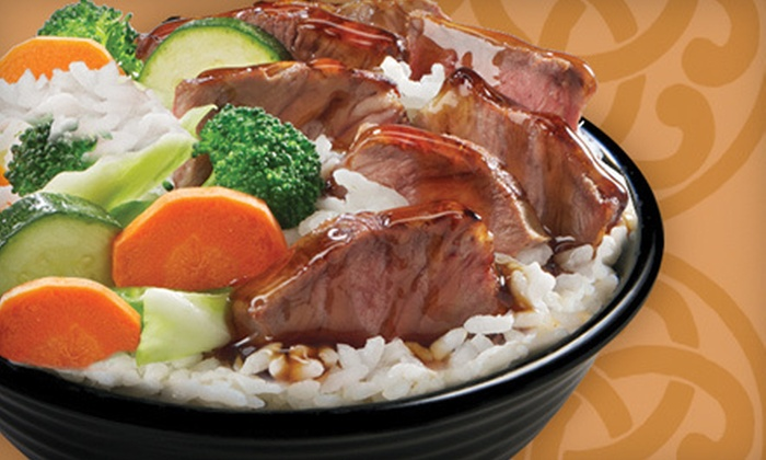 Samurai Sam's Teriyaki Grill - Austin: Two Rice or Noodle Bowls, Egg Rolls, and Drinks, or $7 for $15 Worth of Japanese Food at Samurai Sam's Teriyaki Grill
