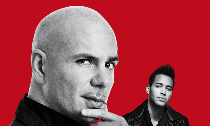 Pitbull with Prince Royce and special guest Farruko on August 9 at 7:30 p.m.