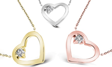 One (AED 119), Two (AED 199) or Three (AED 249) Heart Necklaces with Crystal from Swarovski® With Free Delivery