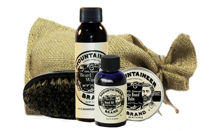 Mountaineer Complete Beard Care Kits In Burlap Bag