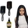 Wide-Paddle Wet or Dry Detangle Hair Brush with Argan Oil