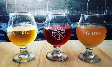 Cider Tasting Flight and Logo Pint Glass for Two or Four People at Guthrie CiderWorks (Up to 38% Off)