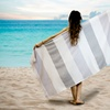 100% Cotton Jacquard Stripe Sarongs and Beach Towels