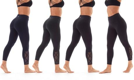 Marika High Rise Tummy Control Crossed Capri Leggings 80f616de-42c8-40da-99c8-84275b4624c4