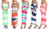 White Mark Maternity Malea Tie-Dye Maxi Dresses
