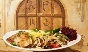 Restauracja Erywań: Kaukasko-słowiańskia kuchnia: 21 zł za groupon wart 30 zł i więcej opcji na dania z menu w Restauracji Erywań (do -31%)