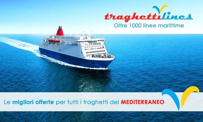 Traghettilines - Buono sconto fino a 100 € sull'acquisto dei collegamenti marittimi da/verso la Sardegna