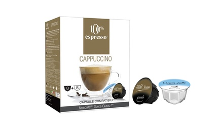 80 o 160 capsule di cappuccino compatibili Dolce Gusto