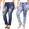 V.I.P. Women's Plus-Sized Distressed Jeans
