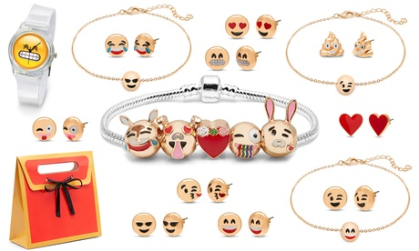 Set de joyería emoji de 20 piezas OMG Jewel
