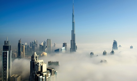 Dubai: 1 or 2 Nights for 2 with Breakfast and Option for Half Board or Burj Khalifa Tickets at 4* Ramada Downtown Dubai