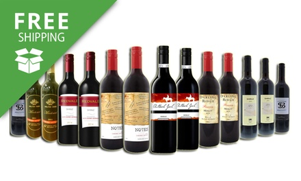 Free Shipping: $85 Bottle Case of Red Mixed Wines Don't Pay $209