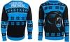 NFL Unisex Big Logo Ugly Sweater (Carolina Panthers)