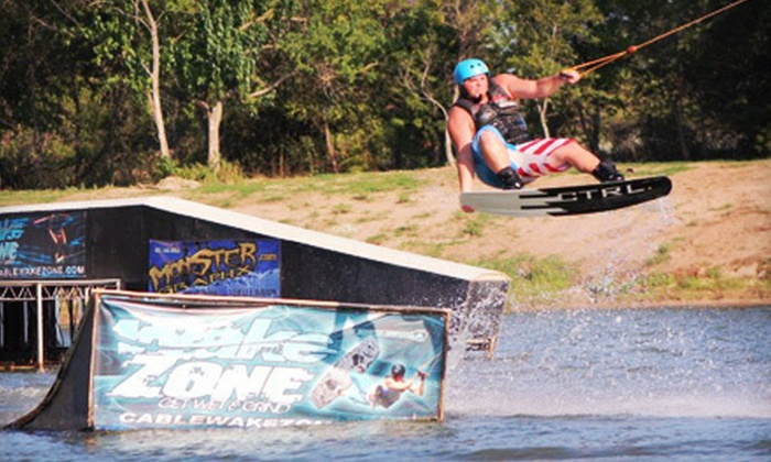 Wake Zone Cable Park - Central Oklahoma City: Two- or Four-Hour Wakeboarding Cable Pass at Wake Zone Cable Park (51% Off)