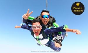 Sky Radical: Sky Radical – Boituva: salto duplo convencional ou Challenge com certificado (opção com fotos e bônus para curso AFF)