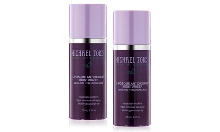 Michael Todd True Organics Liposome Antioxidant Moisturizer; 2-Pack of 2.4 Fl. Oz. Bottles