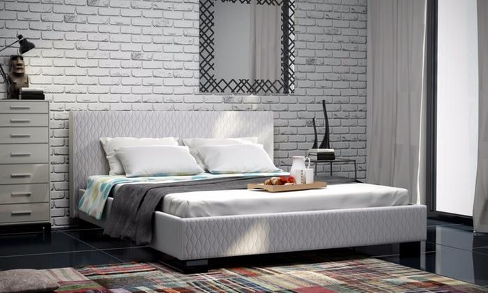 bett set mit matratze und rahmen groupon goods. Black Bedroom Furniture Sets. Home Design Ideas