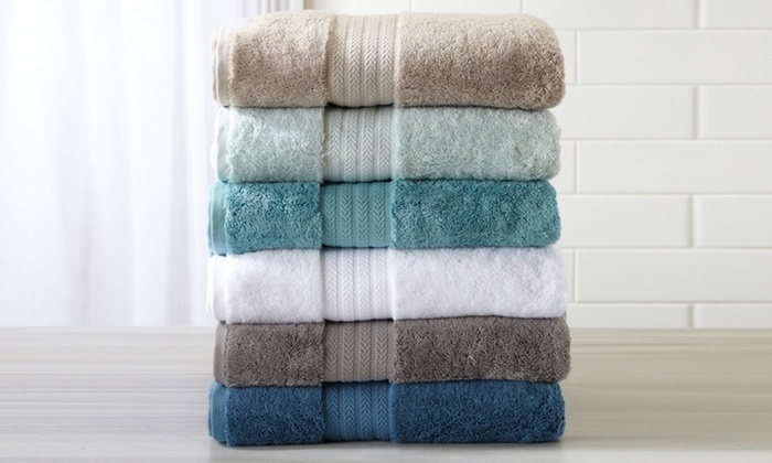 Alina Collection 100% Turkish Cotton Bath Towel Set (6 Piece) ...