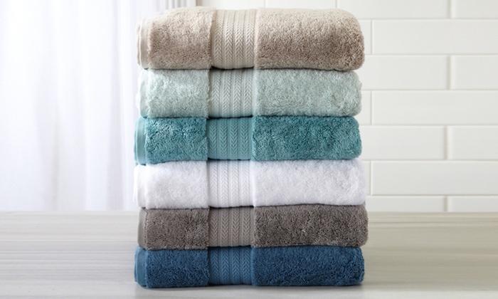 Alina Collection 100% Turkish Cotton Bath Towel Set (6 Piece): Alina ...