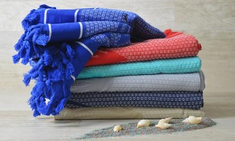 1 o 2 teli mare con frange Cieffepi Home Collections disponibili in vari colori