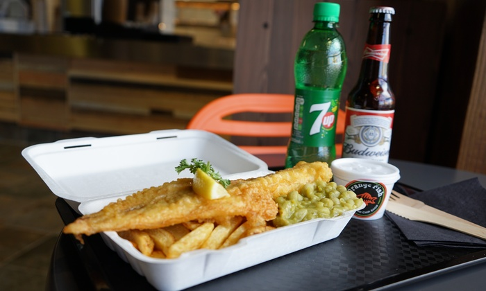 adc170255ff Fish and Chips with Beer or Wine - Orange Fish | Groupon