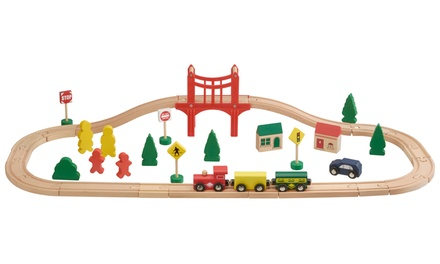 One or Two 40Piece Wooden Train Sets