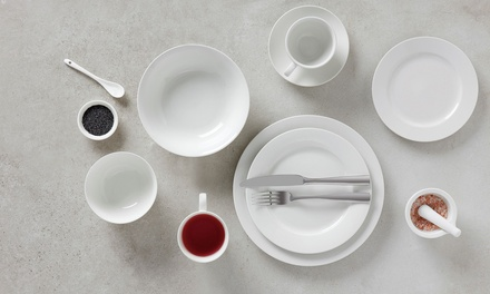 $39 for a Maxwell & Williams 20 Piece White Basics Royale Rim Dinner Set (Don't Pay $84.95)