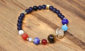 Solar System Natural Stone Bracelet