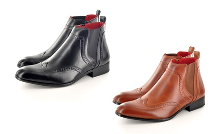 Men's Chelsea Ankle Brogue Boots