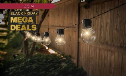 Solar-Powered Retro-Style String Light Bulbs: One ($15) or Two ($25) Sets