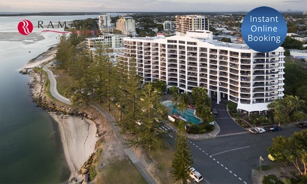 Sunshine Coast: 2 or 3N Stay with Wine, Kayak, Bike, and DVD Hire, and Late CheckOut at Ramada Resort Golden Beach