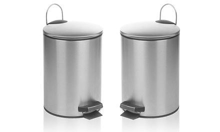 Stainless Steel Bin and Brush Set