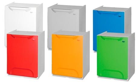 Image of Fino a 3 contenitori per la raccolta differenziata ArtPlast, dalla capacità di 20 L, disponibili in vari colori