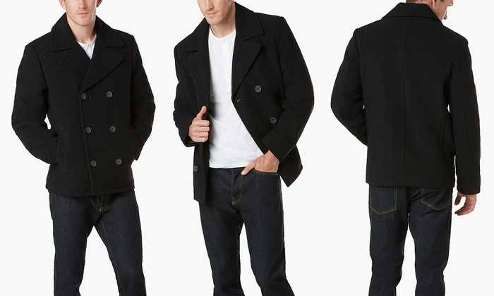 Kenneth Cole Wool Blend Men S Peacoat Size S