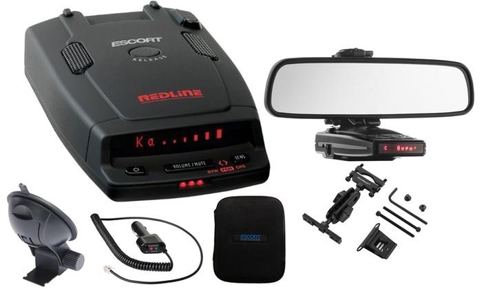 Escort Radar Detector >> Escort Redline Dual Antenna Radar Detector Plus Car Mirror Mount Kit