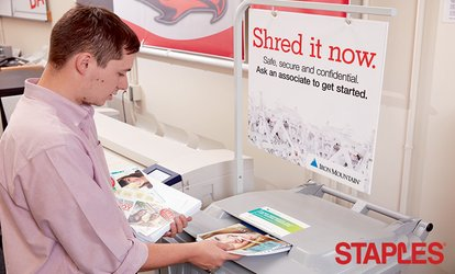 image for Shredding Services at Staples (Up to 49% Off)
