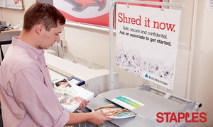 Staples – Up to 49% Off Shredding Services at Staples, plus 6.0% Cash Back from Ebates.