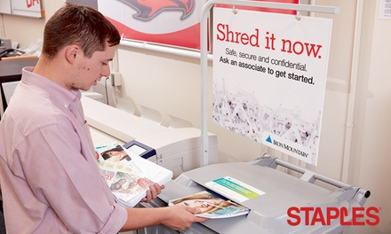 Shredding Services at Staples (Up to 50% Off)