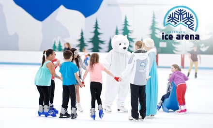 Ice Skating with Skate Hire for One ($15), Two ($29) or Four People ($55) at Cockburn Ice Arena (Up to $100 Value)