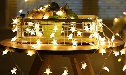 Stringhe con luci LED a stella