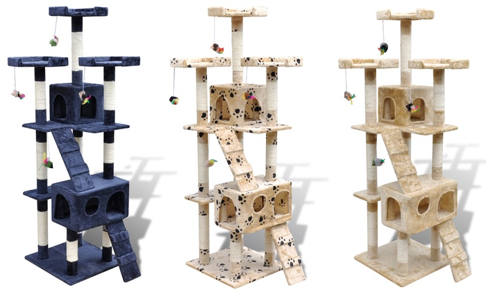 Groupon Goods Global GmbH: Cat Tree Scratching Post With Free Delivery