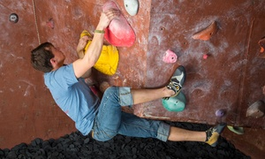 Inside Moves: First-Time Climbing Package with Lesson and Gear for One or Two at Inside Moves Indoor Rock Climbing (55% Off)