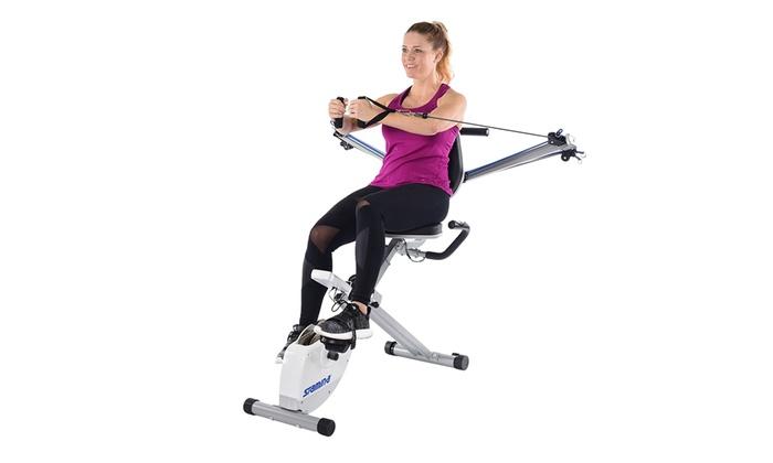 Stamina 8 Adjustable Level Exercise Bike With Upper Body Strength System 15-0344