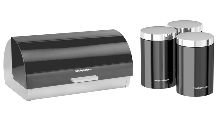 Up To 44 Off Bread Bin And Three Canisters Set Groupon